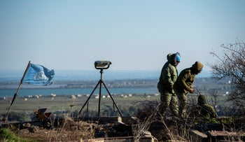 A UNIFIL observation post overlooking Syria in the Golan Heights, last month.