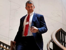 Blackwater founder Erik Prince on Capitol Hill in Washington.