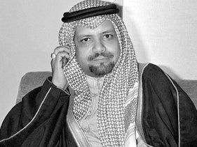 n this Dec. 14, 1976, file photo, Saudi Oil Minister Ahmed Zaki Yamani listens to newsmen's questions during a news conference at Doha, Qatar