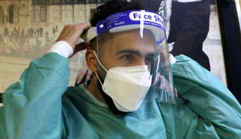 Palestinian Medical Staff in Hebron, this month
