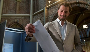 Thierry Baudet votes in European elections, two years ago.