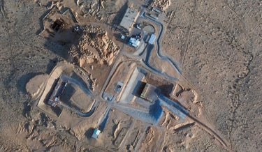 A satellite photo from Planet Labs Inc. shows construction at the Shimon Peres Negev Nuclear Research Center near the city of Dimona, Monday.