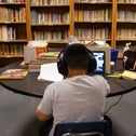 A Los Angeles Unified School District student attending an online class last summer.