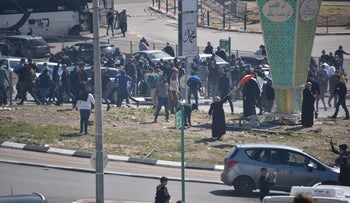 Demonstrators in Umm al-Fahm, on Friday.