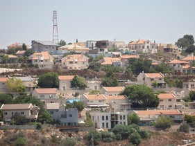 A view of the Israeli West Bank settlement of Kedumim, in August.