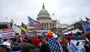 Supporters of President Donald Trump rally at the U.S. Capitol in Washington