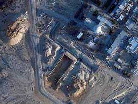 Israeli nuclear reactor at Dimona under construction work, seen from a Planet Labs Inc. satellite photo, January 2020