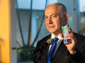 Prime Minister Benjamin Netanyahu presents Israel's digital 'Green Pass'. Experts say the app is flawed and may even be dangerous