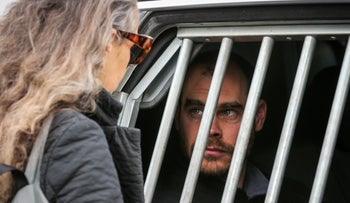 Image of activist Jonathan Pollack during a previous detention.