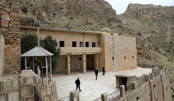 A view of Rabban Hormizd Monastery is seen in Alqosh, Iraq.