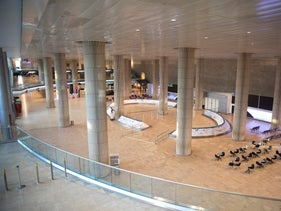The arrivals terminal at Ben Gurion Airport, last week