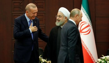 Turkish President Tayyip Erdogan and Iranian President Hassan Rouhani in 2019