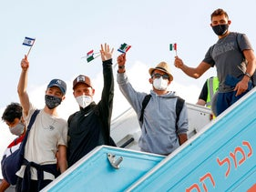 Jewish Mexican immigrants arriving at Ben-Gurion International Airport, last year.