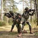 Israeli paratroopers take part in a training exercise in Germany in 2019.
