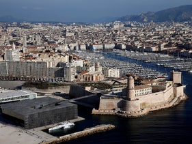 The port city of Marseille in southern France.