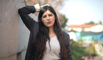"Israeli Arab filmmaker Jasmine Bakria, whose debut effort ""U-Turn"" won first place in the Impro Action competition for Israeli short films last November, March 2021"