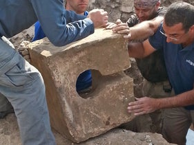 Is this a toilet designed to desecrate a temple at Lachish?