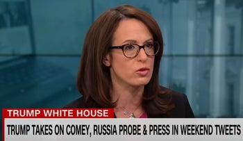 Maggie Haberman appears on CNN to discuss her coverage of Trump