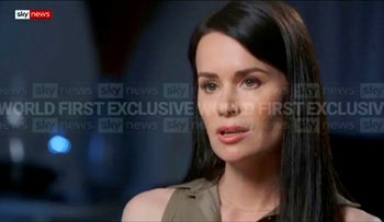 Kylie Moore Gilbert, British-Australian academic detained in Iran, speaks during an interview with broadcaster Sky News Australia, on Tuesday, March 9, 2021