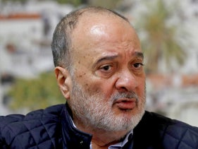 Nasser al-Qidwa, recently expelled from Fatah's Central Committee, speaks during an interview in Ramallah this month