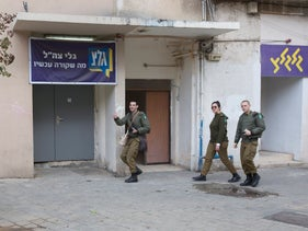 Army radio offices in Jaffa, earlier this month.