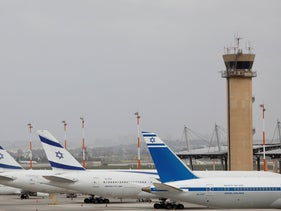 El Al planes are parked at Ben Gurion Airport near Tel Aviv, Israel, last year