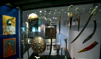 Artifacts at the L.A. Mayer Museum for Islamic Art in Jerusalem.