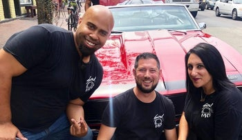 The JewFro team, from left to right: Trey Owens, Ari Augenbaum and Narine Hovnanian.