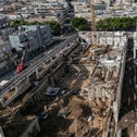 One of many construction sites in southern Tel Aviv suburb of Florentin