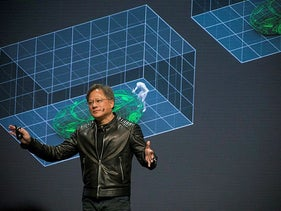 Nvidia CEO Jensen Huang. Intel hopes to use Israeli start-up Deci AI to compete with Nvidia's AI-focused GPUs
