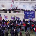 Rioters supporting then President Donald Trump storm the Capitol in Washington, January.