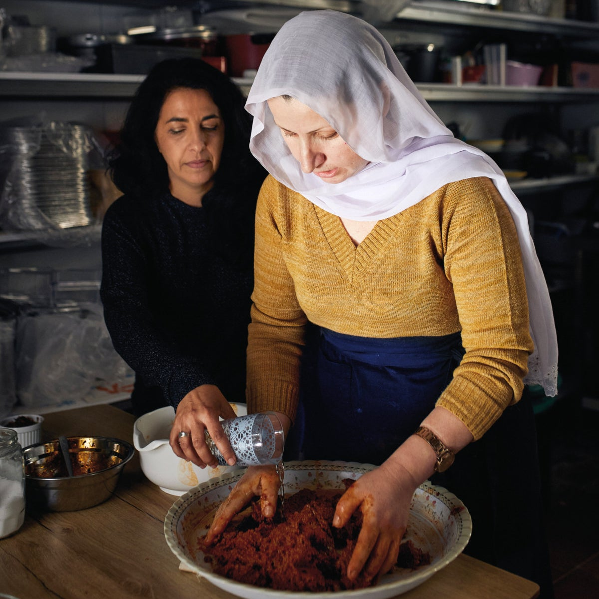 Sigi Mantel, left, and Saffa Ibrahim. For both of these women, the kitchen is a window through which to look at the world with curiosity and affection.