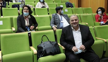United Arab List chief at an event last month.