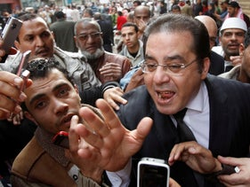 Ayman Nour at a rally at Tahrir Square in downtown Cairo in 2011.