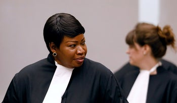 Public Prosecutor Fatou Bensouda at the ICC in the Hague, the Netherlands, two years ago.