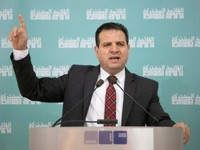 Joint List chairman Ayman Odeh in Tel Aviv, last month.