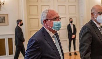 Palestinian Foreign Minister Riyad al-Maliki at the Foreign Ministry in Athens, last week.