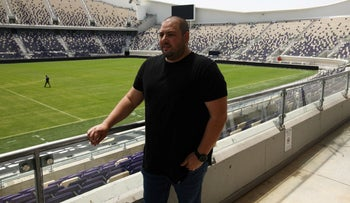 Shalev Hulio, the CEO of Israel's NSO Group, at Bloomfield Stadium, in Tel Aviv, Israel, last year.