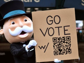 Mr. Monopoly urges New Yorkers to vote. Can Israel shift to electronic voting?