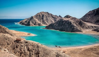 A blue lagoon at Sinai, Egypt