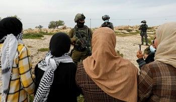 Israeli soldiers in the West Bank, March 2021.