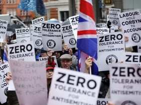 A Protest against antisemitism in London, two years ago.