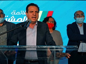 Ayman Odeh, leader of Israel's predominantly Arab Joint List, March 2021.