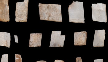 Crystals collected by early Homo sapiens in the southern Kalahari 105,000 years ago.