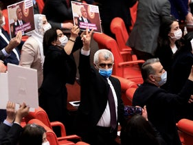Omer Faruk Gergerlioglu, a human rights advocate and lawmaker from the People's Democratic Party, March 2021.
