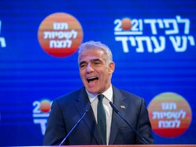 Yesh Atid chairman Yair Lapid after the election results, last week