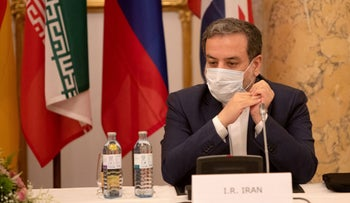 Iran's Deputy Foreign Minister Abbas Araqchi attending a meeting of the JCPOA Joint Commission in Vienna in 2020.