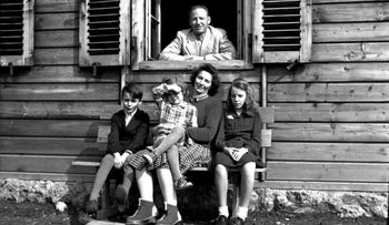Otto Wächter, the Nazi governor of Galicia, and his family, 1948.