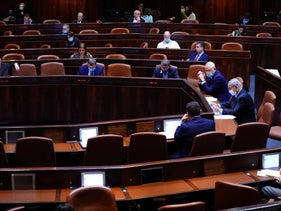 The Knesset chamber last year.