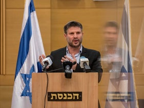 Religious Zionism party leader Bezalel Smotrich at Knesset, this week.